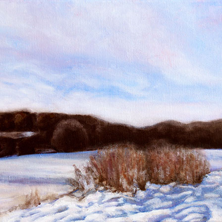 Rocky Narrows Winter Morning II painting